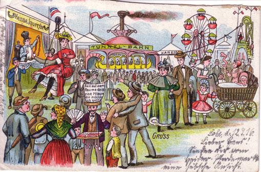 Postkarte Heider Pferdemarkt
